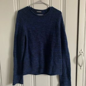 American apparel black/blue cotton marled sweater